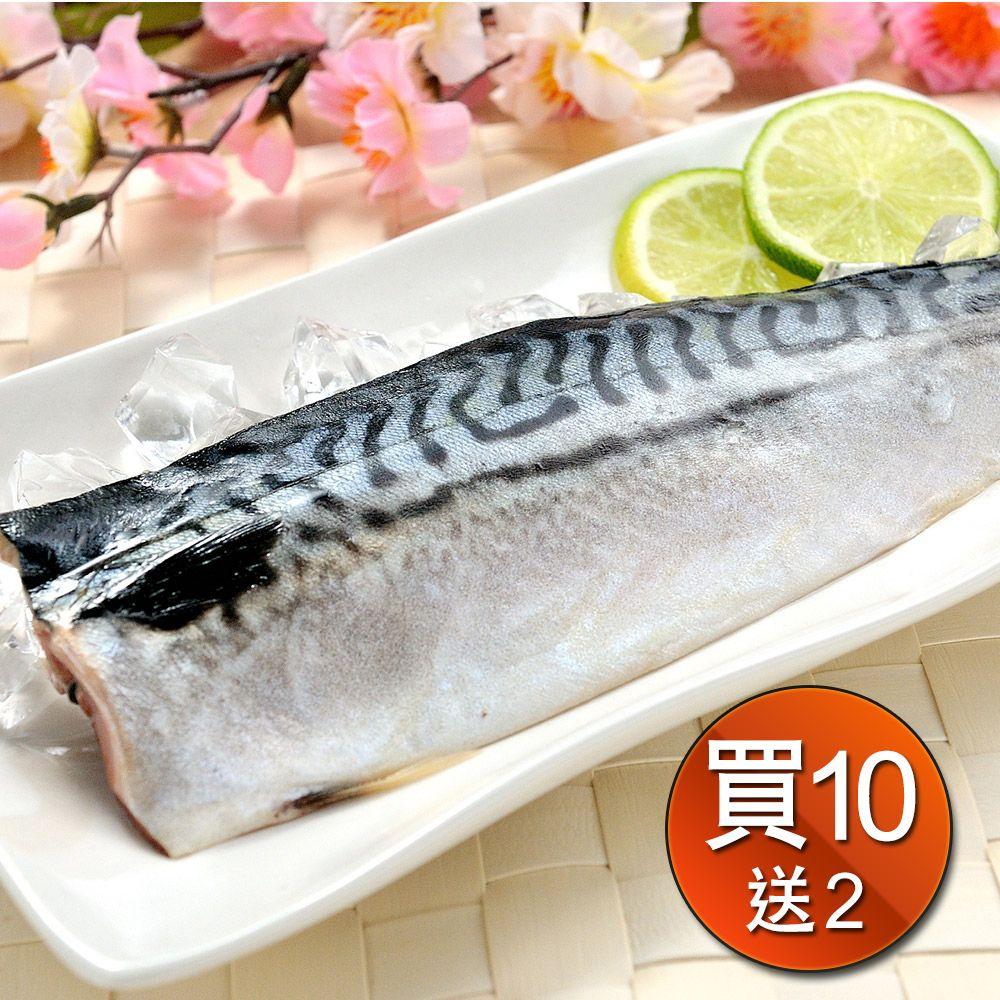 正挪威薄鹽鯖魚185g買10包送2包共12包 免運組